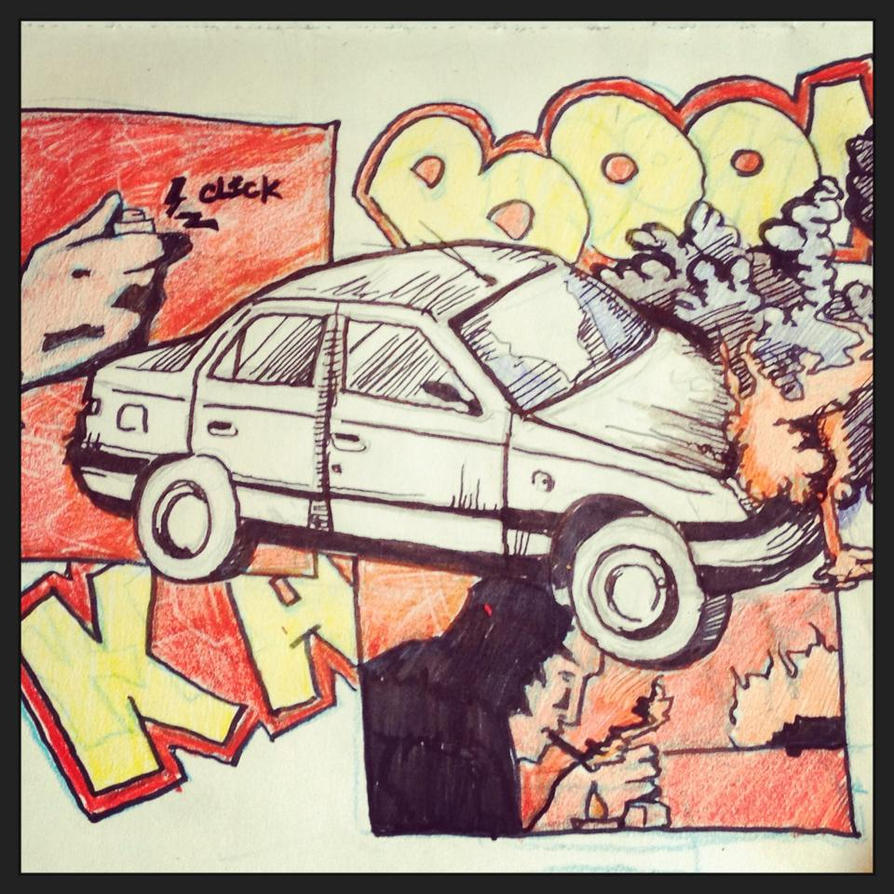 Car Crash Sketch by finkgraphics on DeviantArt