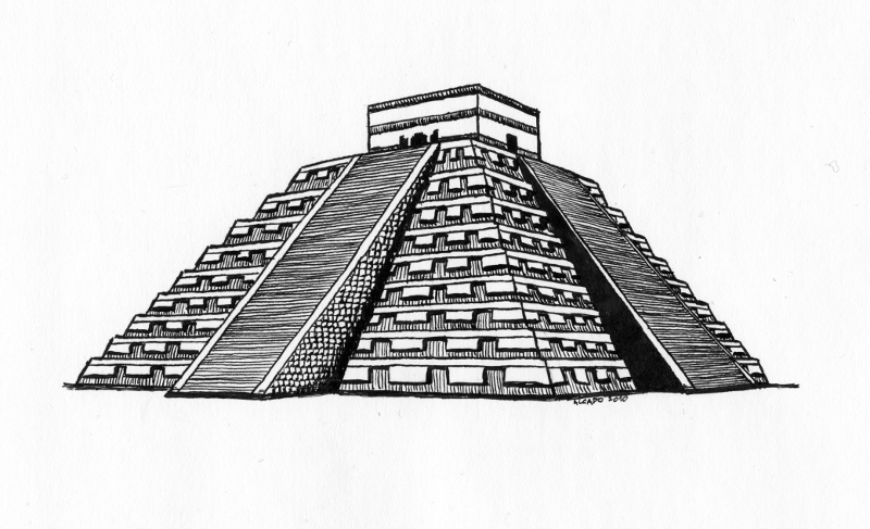 Maya Pyramid By Alcado On Deviantart