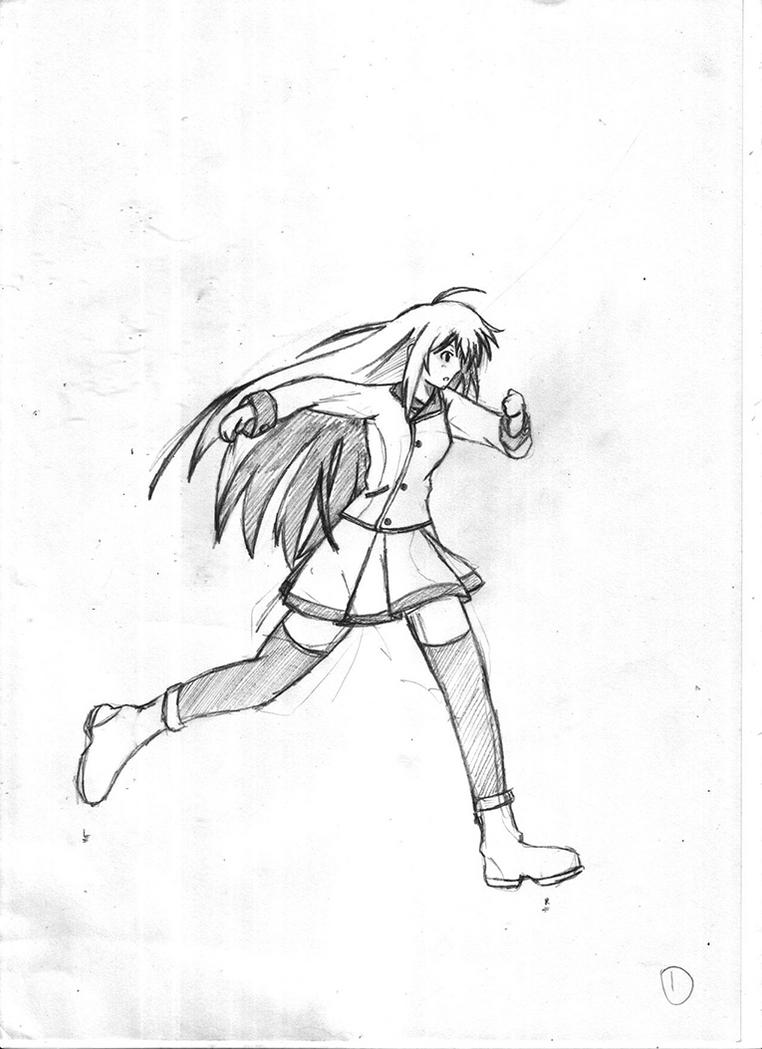 Anime Characters Running : Running anime character sketch by xandier on deviantart