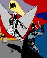 Batman vs Moon Knight by jddishmonart