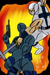 Snakeeyes vs Storm Shadow by jddishmonart