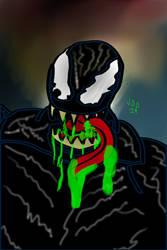 Venom! skecth!!!!!! by jddishmonart