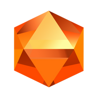 Bejeweled Orange Gem