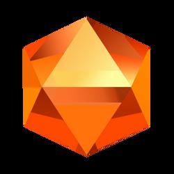 Bejeweled Orange Gem