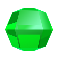 Bejeweled Green Gem