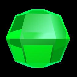Bejeweled Green Gem