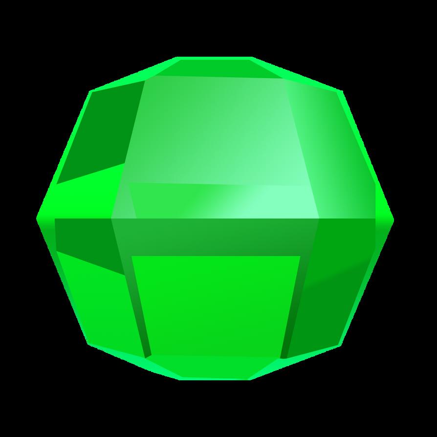 Bejeweled Green Gem by LDinos