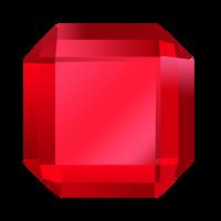 Bejeweled Red Gem