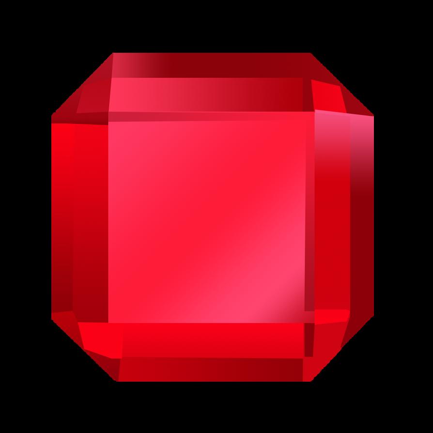 Bejeweled Red Gem by LDinos