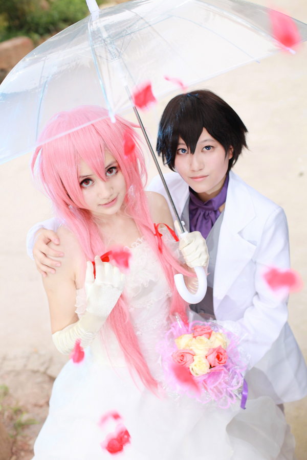 Mirai Nikki - Wedding by kirawinter