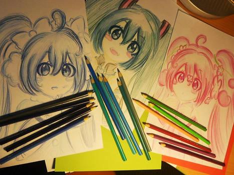 Hatsune Miku drawings :3 2012