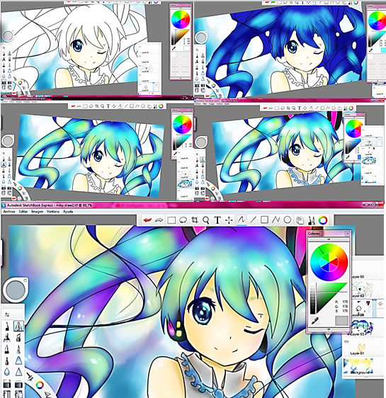 Hatsune miku third drawing tablet intuos manga by vocalandroid01