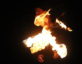 rita on fire