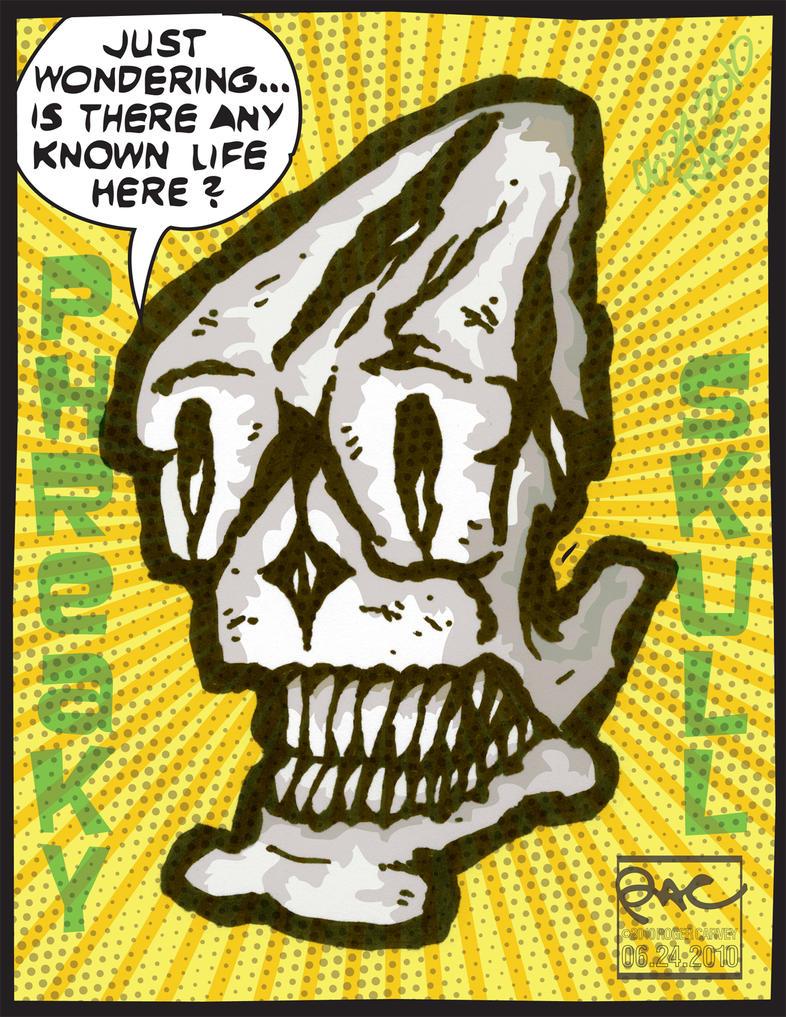 Phreaky Skull by aquiresville