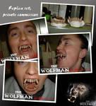 Wolfman teeth replica