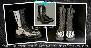 Skeletal Boots by crudelia