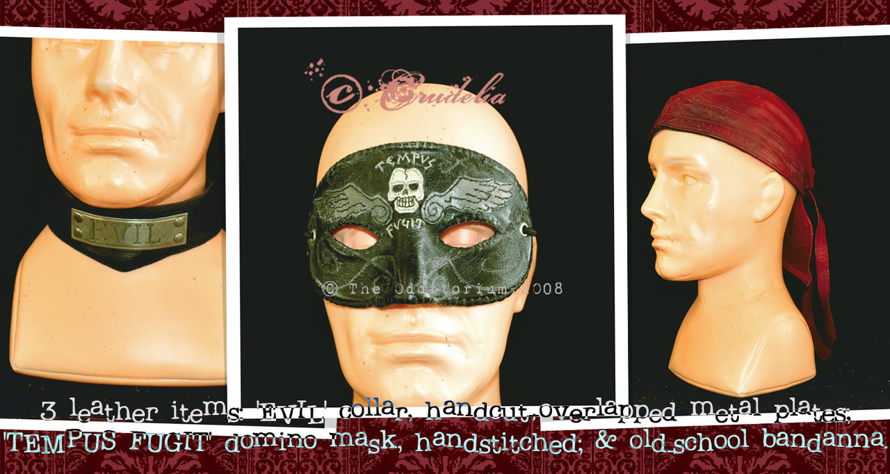 3 Leather Items by crudelia