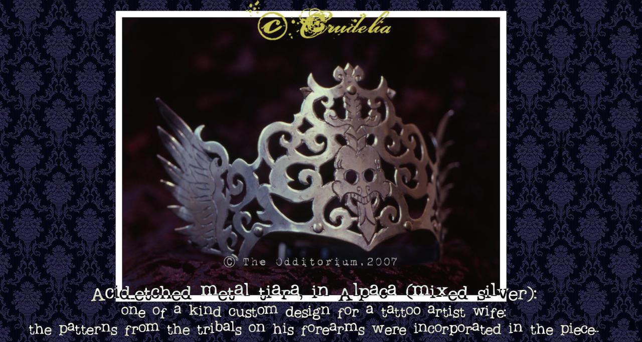 Metal Tiara by crudelia