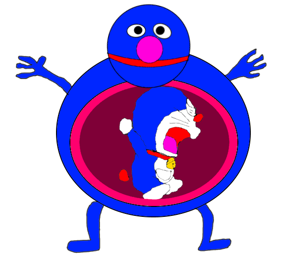 Grover Ate Doraemon (Crossover) by AnpanmanFan1992 on DeviantArt