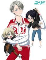 Yuri!!! On ice - Yurio, Viktor and Yuri by IridalAoi