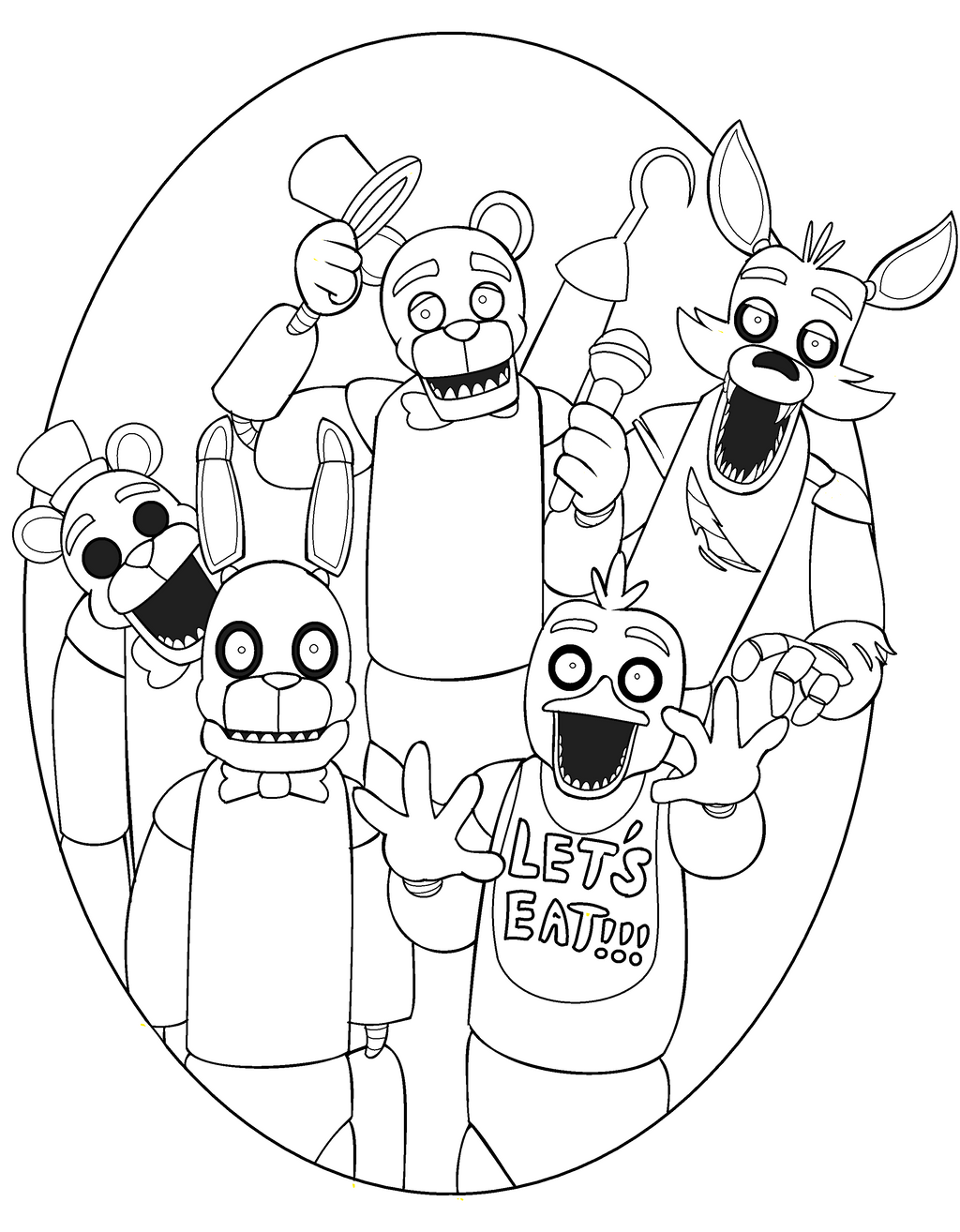 five nights of freddys coloring pages | Freddy Five Nights At Freddys - Free Colouring Pages