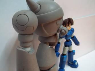 Megaman legends toy in progress by thee-owl