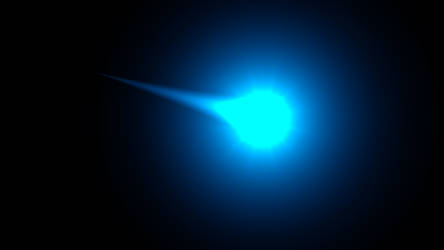 A blue flashing comet thingy
