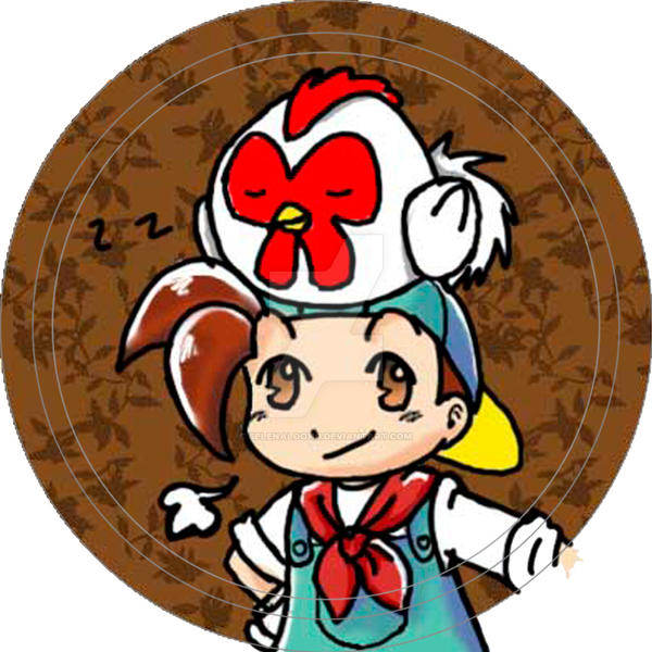 HarvestMoon Button by selenaloong