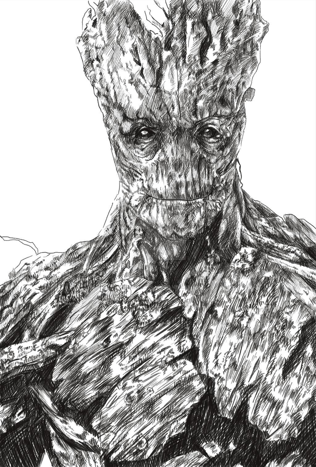 Groot Sketch by selenaloong