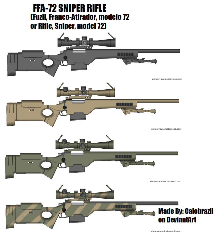 FFA 72 Sniper Rifle By Caiobrazil