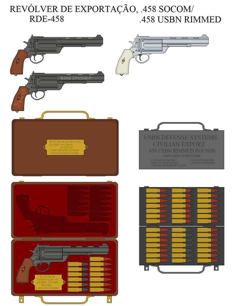 Revolver de exportacao .458 SOCOM by caiobrazil