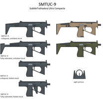 SMTUC-9 ultra-compact submachinegun by caiobrazil
