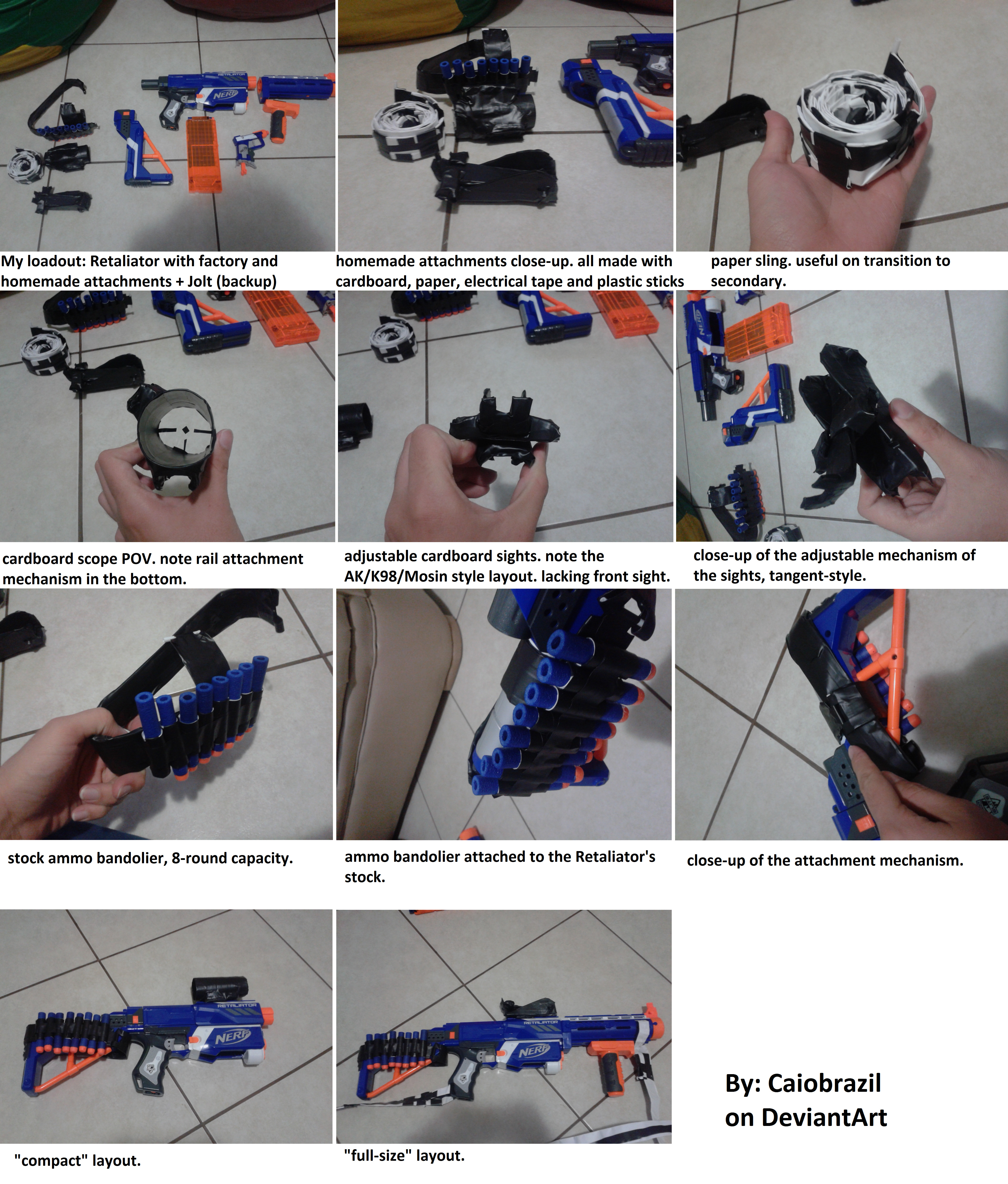 homemade nerf attachments:  electric tape rocks by caiobrazil