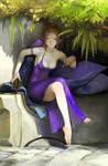 elf in purple dress