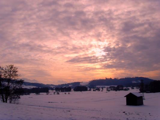 Winter sunset (stock)