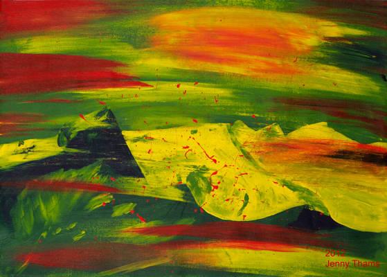 Grossvenediger (mountain, acrylic painting)