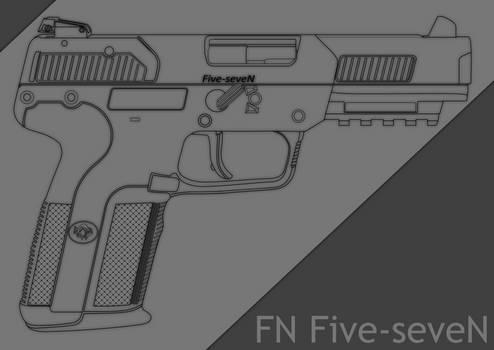 FN 5-7 (Five-seveN) - digital lineart