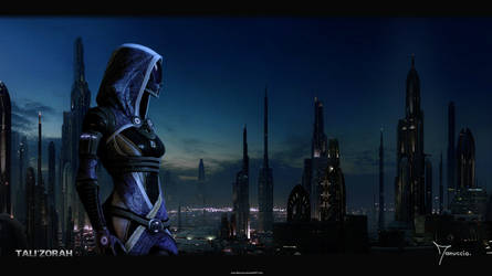 Tali'Zorah In City by Manuccio