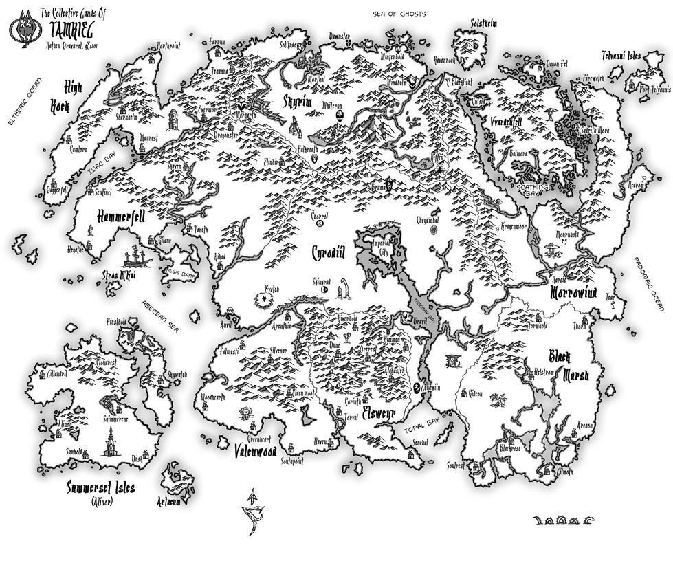 Image Result For Elder Scrolls 2 Map