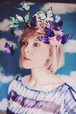 Around her eyes flew butterflies. by ellylucas