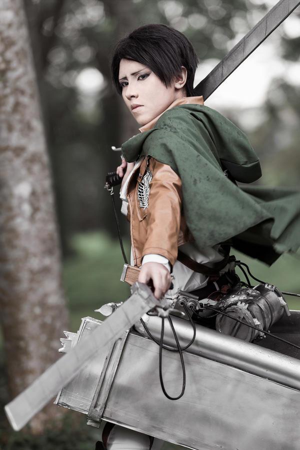 Shingeki no Kyojin - Rivaille / Levi - II by Shazzsteel