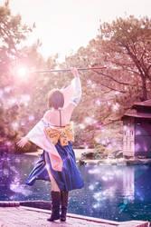 Final Fantasy X - Yuna - IV by Shazzsteel