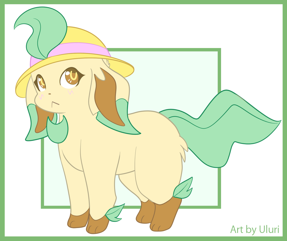 Leafeon the Gardener bg by Uluri
