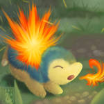 Left Hand Series: Cyndaquil by Uluri