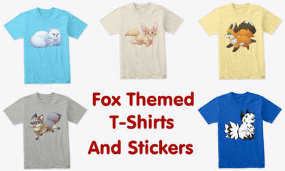 Fox Themed SHirts and Stickers
