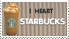 I Heart Starbucks Stamp