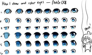 How I Draw And Color Eyes