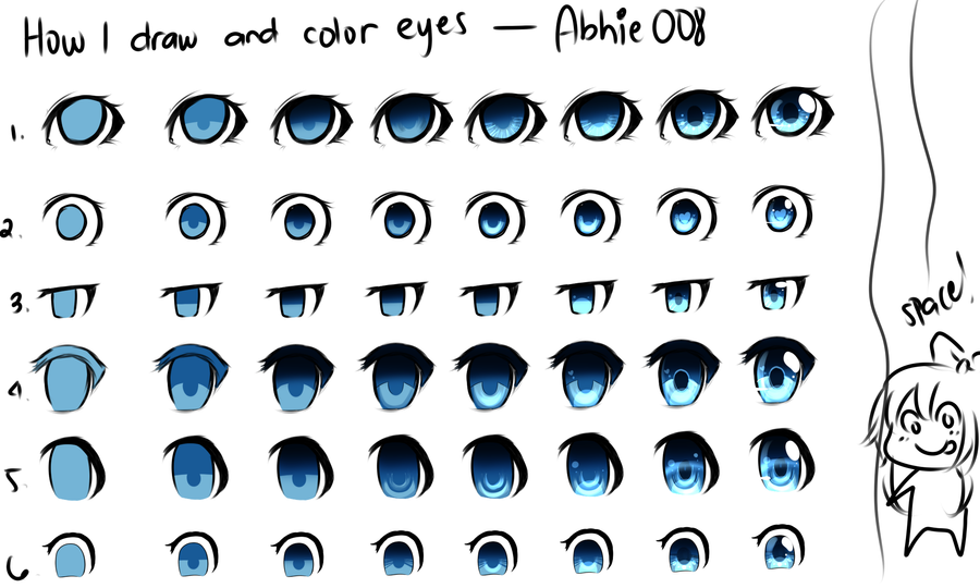 How to color Anime Eyes by ReiRobin on DeviantArt