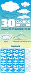 30 Vector Clouds by doghead