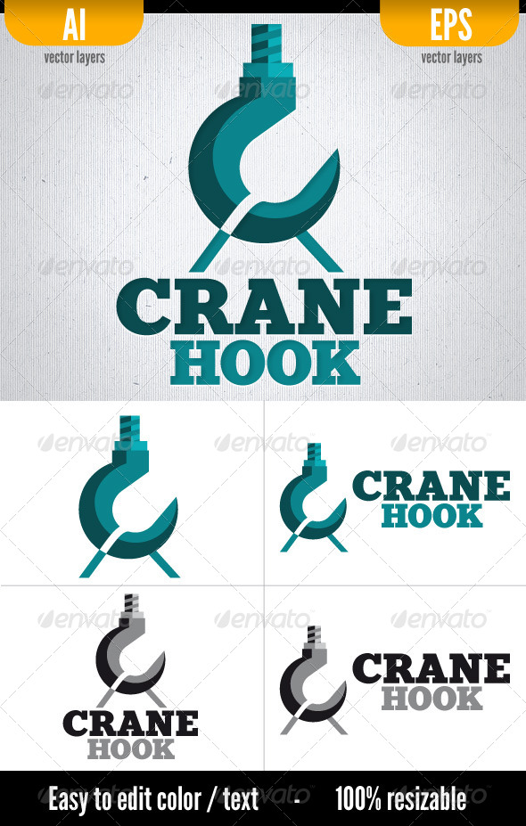 Crane Hook - Logo Template by doghead on DeviantArt